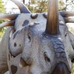 Постер, плакат: Reptile dinosaur styracosaurus albertensis Ceratops with bone ho