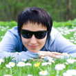 On the flowering meadow — Stock Photo