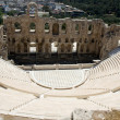 Stock Photo: Ancient amphiteatr Odeon Gerodes Atticus in Acropol Athents Gree
