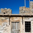 Picturesque old Mediterranean style abandoned lopsided rustic st — Stock Photo