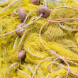 Fishing tackle: net, float, rope close-up — Stok fotoğraf