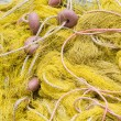 Fishing tackle: net, float, rope close-up — Foto de Stock