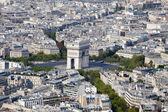 Top view Arch of Triumph and Etoile square Paris France — Stock Photo