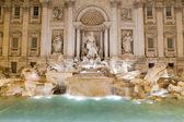 Famous Italy Rome landmark baroque fountain di trevi in twilight — Stock Photo