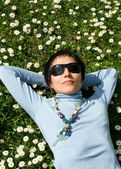 Spring relaxation — Stock Photo