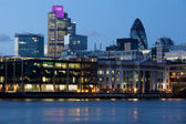 London city Tower 42 illuminated with Olympic rings London 2012 — Stock Photo
