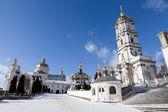 Ancient sacred Christian Pochaev Monastery of Holy Dormition. We — Stock Photo