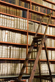 Library full of aged books and ladder — Stock Photo