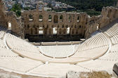 Ancient amphiteatr Odeon Gerodes Atticus in Acropol Athents Gree — Stock Photo