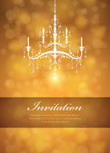 Luxury Chandelier background 02 — Stock Vector