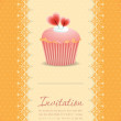 Vintage cupcake background 09 — Stock Vector
