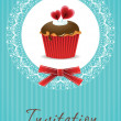 Vector de stock : Vintage cupcake background 05