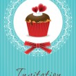 Stock vektor: Vintage cupcake background 05