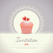 Vintage cupcake background 08 — Vector de stock