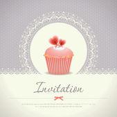 Vintage cupcake bakgrund 08 — Stockvektor