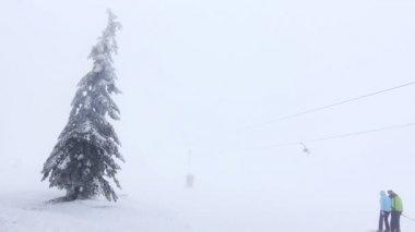 Ski lift — Stock Video
