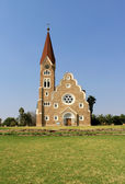 Christuskirche, famous Lutheran church landmark in Windhoek — Stock Photo