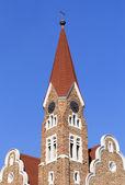 Christuskirche, célèbre point de repère église luthérienne de windhoek — Photo