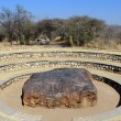 Hoba meteorite - the largest meteorite ever found — Stock Photo