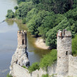 Devin castle near Bratislava (at the border with Austria) - Stock Photo