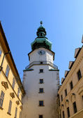 Michal Tower (Michalska Brana), Bratislava, Historic City Gate. — Stock Photo