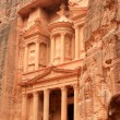 The treasury at Petra, Lost rock city of Jordan. — Stock Photo