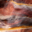 Sandstone gorge abstract pattern formation, Rose City cave, Siq, — Stock Photo