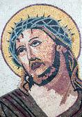Antika bysantinska kristna mosaik porträtt av jesus kristus — Stockfoto