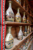 Tradicional öken botlle sand konst, gjorde som souvenir — Stockfoto