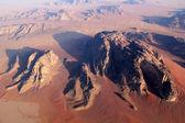 Wadi Rum Desert beautiful landscape from above. Jordan. — Stock Photo