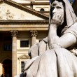 Gendarmenmarkt square statue — Stock Photo