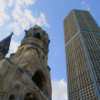 Ruins of Kaiser Wilhelm Memorial Church in Berlin — Stock Photo