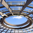 Modern dome of Reichstag (Germany parliament building) in Berlin — Stock Photo
