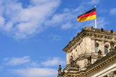 Detail of The Reichstag, the German Parliament — Stock Photo
