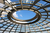 Cupola dome pattern of Reichstag (Germany parliament building) in Berlin — Stock Photo