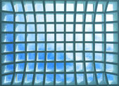 Geometric ceiling of office building — Stock Photo