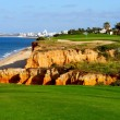 Golf course by the sea — Stock Photo