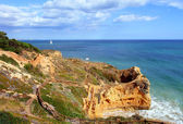 Algarve coastel scenario — Stock Photo