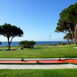 Minigolf park in beach and sport resort - Stock Photo
