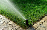 Garden irrigation system — Stockfoto