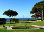 Minigolf park in beach and sport resort — Stock Photo