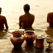 Morning ritual on Ganges river — Stock Photo #15710955