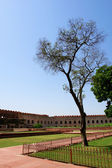 Outside Architecture of the Red Fort and garden — Stock Photo