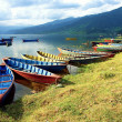 Boats in Fewa Lake — Stock Photo #15721277