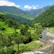 Rice fields and freshwate. Himalayan landscape — Foto de Stock