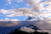 View of annapurna mountain, trek to base camp conservation area — Stock Photo