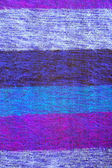 Colorful striped woolen fabric — Foto Stock