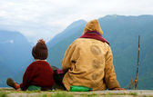 ANNAPURNA, NEPAL: Local of the Annapurna region — Stock Photo