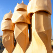 Casa Mila by Antoni Gaudi - roof top - Barcelona — Stock Photo #16210297