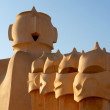 Famous chimneys at Casa Mila (also called La Pedrera) by Antoni Gaudi — Stock Photo #16210341